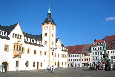 Freiberger Obermarkt - Quelle Wikipedia