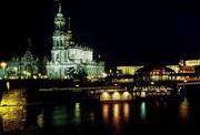 Semperoper in Dresden bei Nacht
